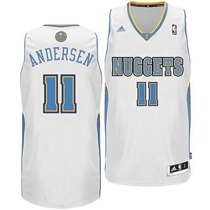 79c0bef4189 Amazon.com   NBA Denver Nuggets White Swingman Jersey Chris Andersen ...