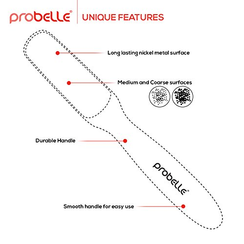 Probelle 2-Sided Hypoallergenic Nickel Foot File for Callus Trimming and Callus Removal, Red, 4 Ounce by Probelle (Image #4)