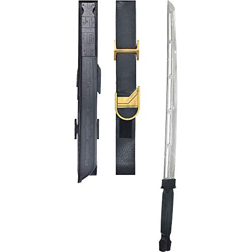 Party City Avengers: Endgame Ronin Katana, Measures 3 1/2 Inches Wide by 33 1/2 Inches Long, with a Matching Strap -