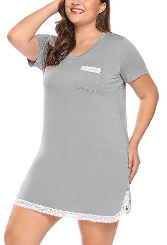 Involand Nightgown Viscose Sleepshirt Sleepwear product image