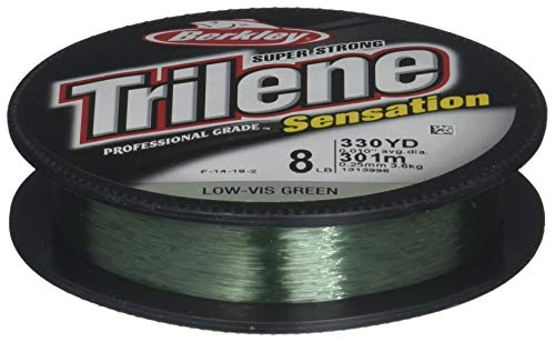 Berkley Snfsn8-22 Trilene Sensation Fishing Bait, Green, 330 yd ()