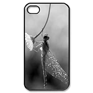 Cool Painting Beautiful Dragonfly Use Your Own Image Phone Case for Iphone 4,4S,customized case cover case-309862