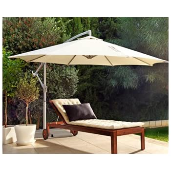 Ikea KARLSO Hanging Umbrella Beige