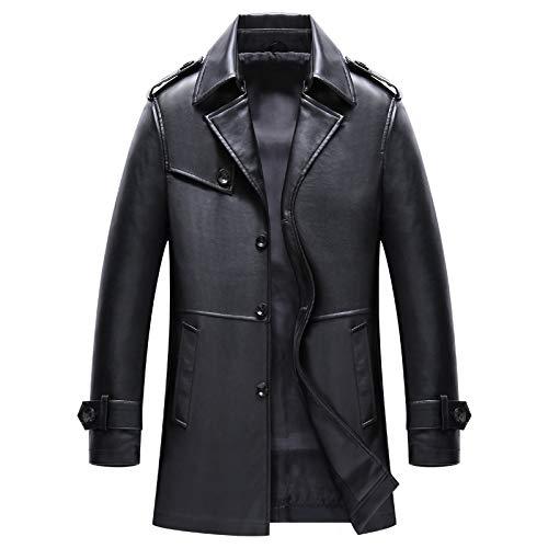 Slim Hommes Revers Automne Black Manteau Cuir Pu En Motard De Hiver Vestes wwYBOvaA