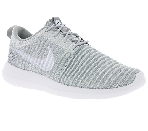 NIKE Mens Roshe Two Flyknit Running Shoes Wolf Grey/White-stadium Green clearance low shipping KIjbz