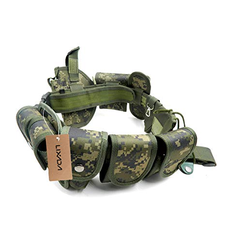 Lixada Cinturón Táctico de Ajustable Nylon Militar Utilidad Correa ...
