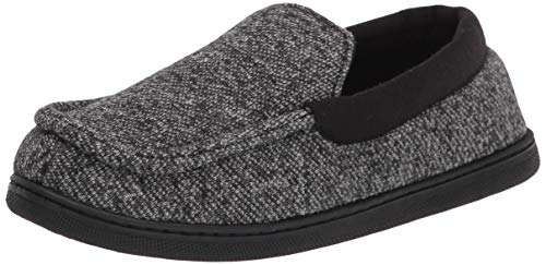 Hanes Unisex-Child Moccasin House Shoe with Indoor Outdoor Memory Foam Sole Fresh Iq Odor Protection Slipper