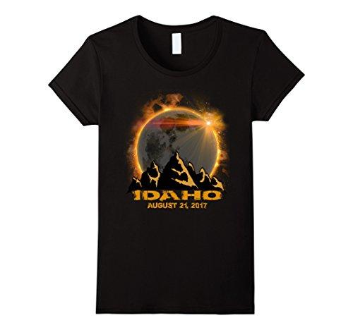 Womens Idaho Solar Eclipse Tshirt Small Black