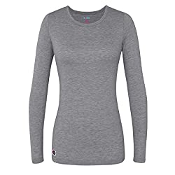 Sivvan Women's Comfort Long Sleeve T-shirtunderscrub Tee - S8500 - Dark Marl Gray - M