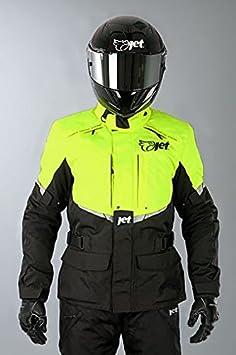 Silver, 4XL 48-50 JET Motorcycle Motorbike Jacket Mens Textile Waterproof CE Armoured Tourer/