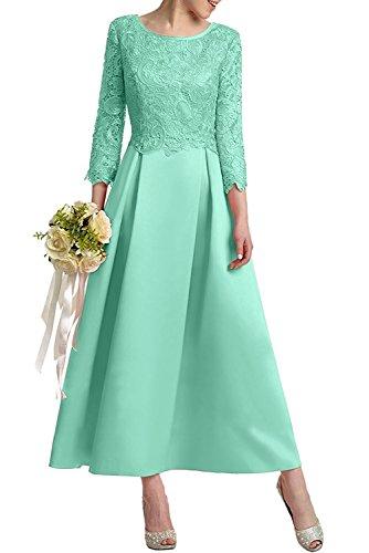 Knoechellang Spitze Brautmutterkleider mia Linie Abendkleider Herrlich Promkleider Braut Gruen A Rock Satin Ballkleider Minze La Pink HzqfIn8fw