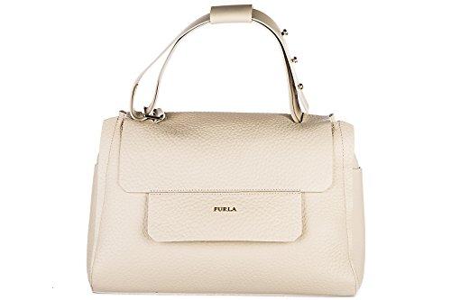 Damen beige Bag Tasche Furla Handtasche Leder capriccio YwAqA4EI