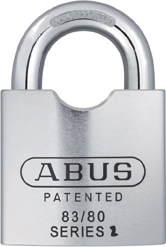 ABUS 83/80-300 S2 Schlage 80mm Solid Steel Rekeyable Padlock...