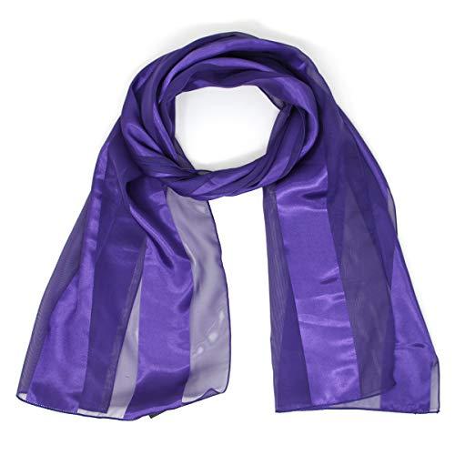 Purple Satin Stripe - Scarfs for women | lightweight soft silky scarves | 60