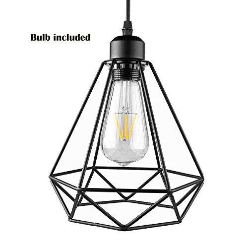 Lemonbest Industrial Vintage Edison Hanging Pendent Light