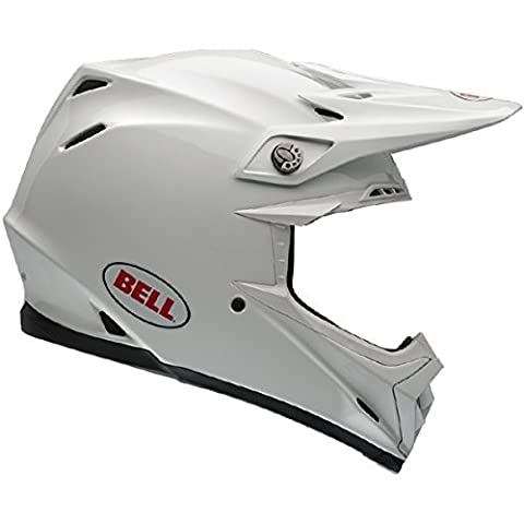 Bell Moto-9 Unisex-Adult Off Road Helmet (Solid White, Large) (D.O.T.-Certified) - Solid Off Road Helmet