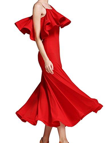 Waltz Romantic dress Modern dress Dress National Red Lotus Dress Ballroom HxBwgqfx