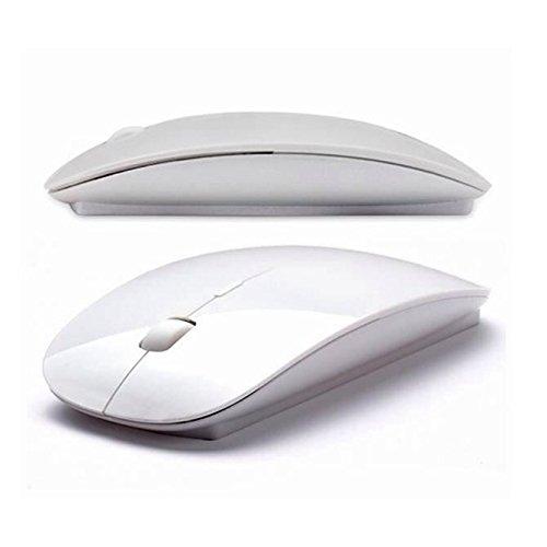 24 opinioni per Mouse Ottico Senza Fili con nano ricevitore USB Bianco 3 Tasti 2,4ghz USB PC