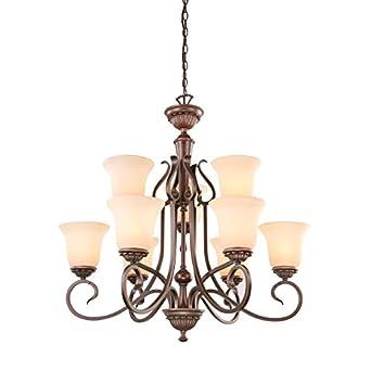 Portfolio 9 light bronze chandelier amazon portfolio 9 light bronze chandelier aloadofball Image collections