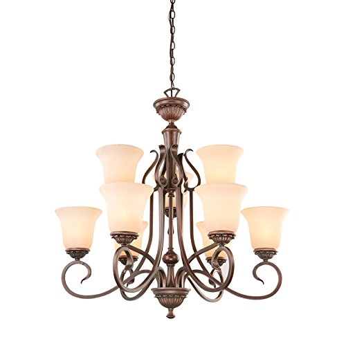 Lake Traditional Chandelier - Portfolio 9-Light Bronze Chandelier