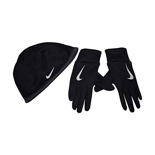 引退するシャーロットブロンテメンターNike Thermaレディース帽子とグローブセットfor Running, Cold Weather (ブラック, XS/S)