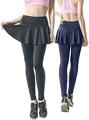 KSUA Mujeres Deporte Faldas Leggings Cintura Alta Control de ...