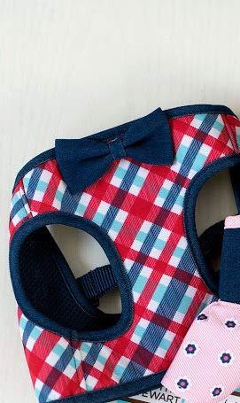 Americana Dog Harness - Martha Stewart Pets Americana Plaid Dog Harness~X-Small~