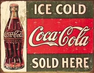 Coca Cola 1916 Ice Cold Cartel de chapa (de): Amazon.es: Hogar