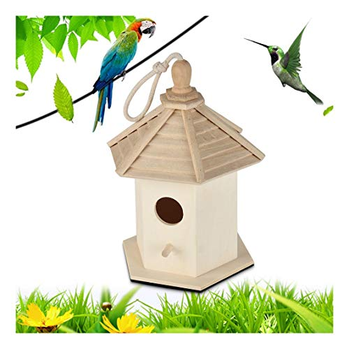 cnnIUHA Modern Fashion Design Your Own Wooden Birdhouses Bird House Decorative Hand-Painted Bird House Large Nest Box -