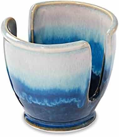Georgetown Pottery Sponge Holder - Cobalt & Purple