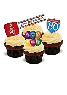 NOVELTY 80TH BIRTHDAY BRIGHT PARTY MIX Male Female 80