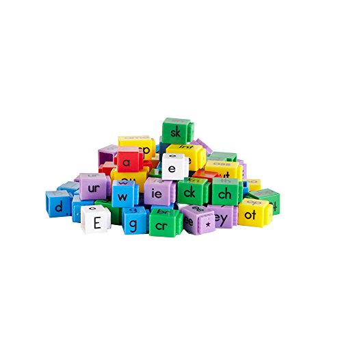 hand2mind Alphabet Linking Letter and Word Building Cubes for Early Reading (Set of 142)