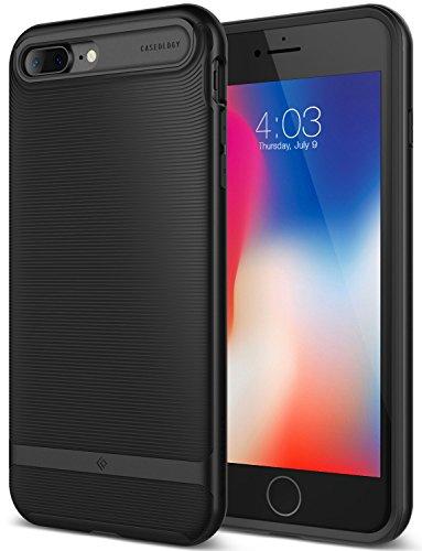 Caseology [Wavelength Series] iPhone 8 Plus/iPhone 7 Plus Case - [Stylish & Protective] - Matte Black
