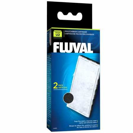Fluval 2 Plus Foam - Fluval U2 Filter Poly/Carbon Catridge (2 Pack)