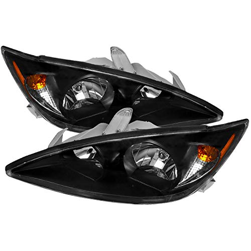 CARPARTSINNOVATE For Toyota 02-04 Camry JDM Black Headlights Front Head Lights Lamps Left+Right