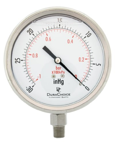 "4"" All Stainless Steel Oil Filled Vacuum Pressure Gauge for sale  Delivered anywhere in USA"