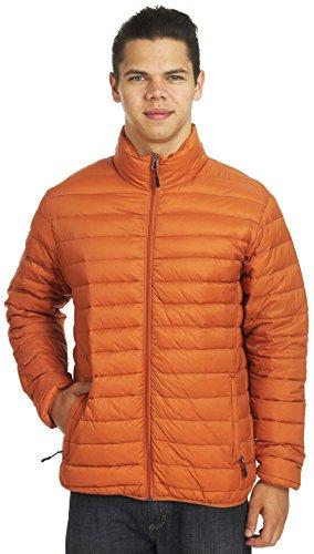 Hawke & Co Men's The Flatiron Packable Down Jacket, Saffron, Medium (Flatiron Co)