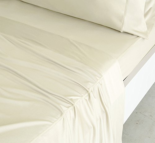 SHEEX - LUXURY COPPER Sheet Set with 2 Pillowcases, Ultra-Soft, Breathable PRO+IONIC Copper Fabric for a Cool, Dry and Comfortable Night's Sleep, Ivory (California King) by Sheex