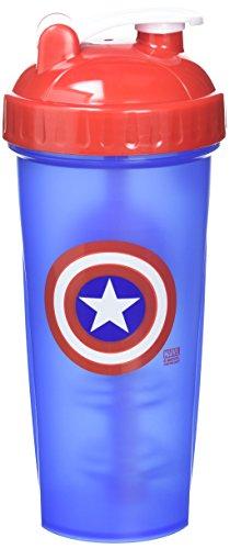PerfectShaker Hero Series Shaker Cup Captain America, 28 (Captain Bottle)