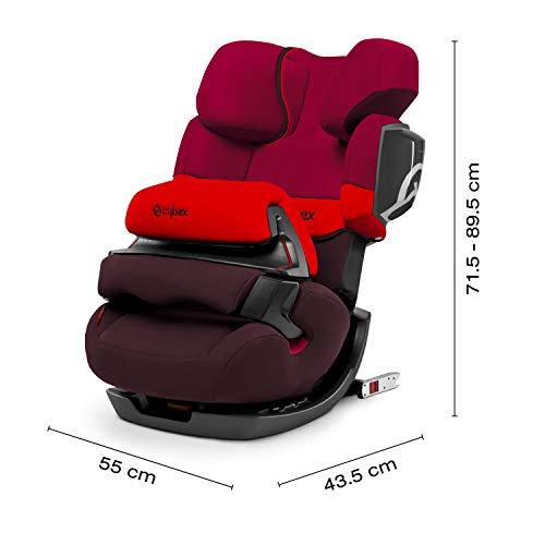 Cybex Silver 2 In 1 Kinder Autositz Pallas 2 Fix Für Autos Mit Und Ohne Isofix Gruppe 1 2 3 9 36 Kg Ab Ca 9 Monate Bis Ca 12 Jahre Rumba Red Baby