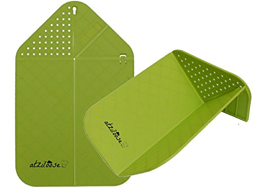Cutting Board Plus Colander 2 in 1 Chopping Board with Integrated Strainer (Green) Christmas Gifts for Her (Folding Cutting Board compare prices)