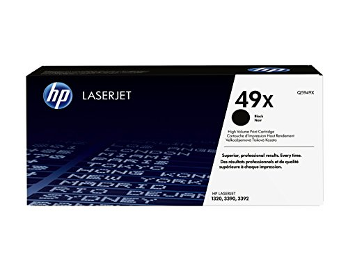(HP 49X (Q5949X) Black High Yield Toner Cartridge for HP LaserJet 1320 3390)
