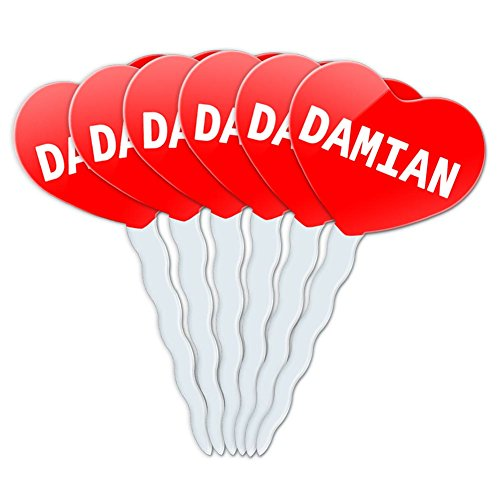 red-heart-love-set-of-6-cupcake-picks-toppers-decoration-names-male-dac-dav-damian