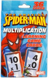 Spiderman Multiplication Learning Game Cards