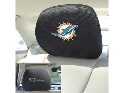 FANMATS 12504 Head Rest Cover NFL (Miami Dolphins)