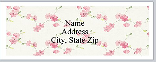 120 Personalized Address labels Cherry Blossoms Background (P 584)