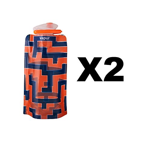 vapur-runaway-shades-18oz-water-bottle-orange-blue-maze-flexible-05l-2-pack