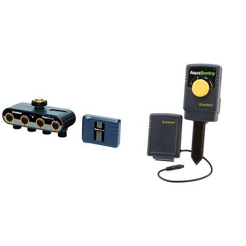 Value Set - Melnor RAINCLOUD Internet Controlled Smart 4 Valve Garden Watering Irrigation Time & Wireless Soil Moisture Sensor by Melnor
