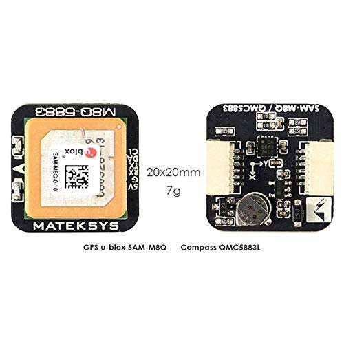 Wikiwand Matek Systems M8Q5883 Ublox SAMM8Q GPS Module with Drone QMC5883L Compass by Wikiwand (Image #2)