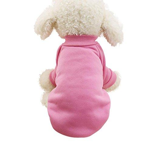 Classic Pet Sweaters! AMA(TM) Pet Doggie Small Dog Cat Winter Warm Fleece Knitwear Sweater Clothes Puppy Shirt Vest Coat Apparel Costume (L, Pink 1) - Pink Velvet Princess Costumes